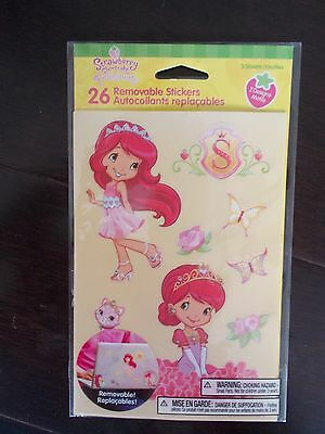 Strawberry Shortcake 26 Removable Sticker Pack New