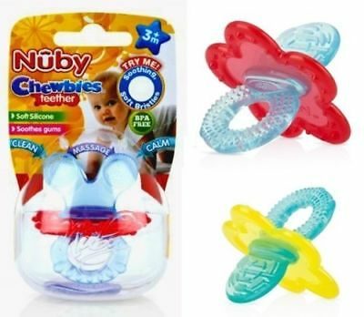 New NUBY Chewbies Teether BPA Free Soothing Teethers 3+months Clean & Calm