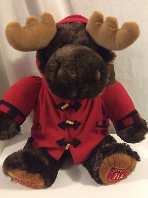 Sears Roebuck And Co Cuddly Classic 2015 10th Anniversery Moose NWT Dan Dee