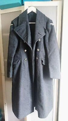 R.A.F wool coat, airforce blue, military, vintage