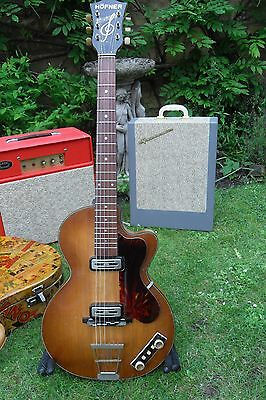 Vintage 1960 Hofner Club 50 Guitar and Beano case ,strap,Hofner strings
