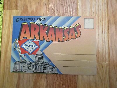 Greetings from Arkansas AR travel Souvenir Folder Postcard