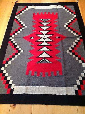 Navajo Design/Southwestern Acrylic Rug or Wall Hanging   4  x  6  FT  Bright Red