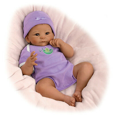 Ashton Drake SWEET PEA baby girl doll by Tasha Edenholm
