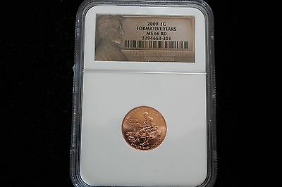 2009 Lincoln Cent, Formative Years,  Ngc Graded Ms 66 Rd