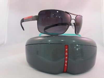 NEW Prada Sports 54IS Sunglasses 7CQ5W1 Gunmetal 100% AUTHENTIC