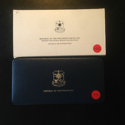 Philippines; 1980 PROOF SET - 7 Coins with Box & COA