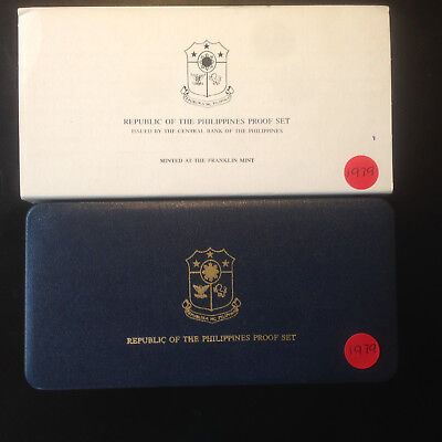 Philippines; 1979 PROOF SET - 8 Coins with Box & COA