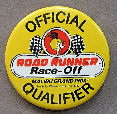 1982 TWEETY BIRD Official Road Runner RACE-OFF QUALIFIER pinback button
