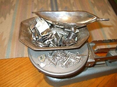 Sterling Silver Lot 285 Grams 9.18 Ozs Some Scrap Black Starr Tray Jewelry