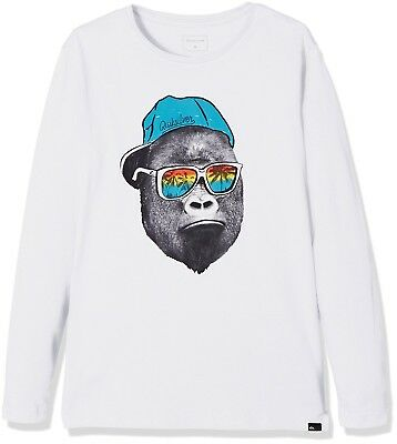 (FR : 14 ans (Taille Fabricant : L/14), White) - Quiksilver Boys' Classic
