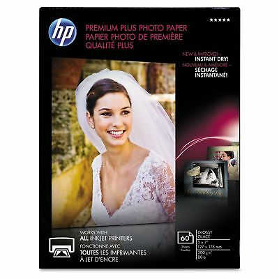 HP CR669A Premium Plus Photo Paper  80 lbs.  Glossy  5 x 7  60 SheetsPack