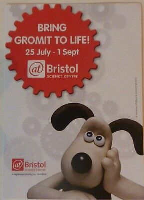 A GRAND DAY OUT Wallace and Gromit @BRISTOL 'Bring Gromit To Life' Flyer 2013