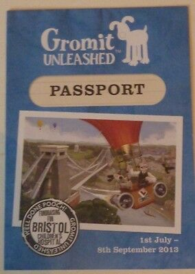 WALLACE AND GROMIT PASSPORT (unused) from Gromit Unleashed GRAND DAY OUT trail