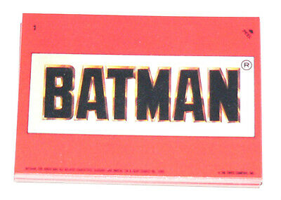 1989 Topps BATMAN MOVIE series 1 - 22 sticker set. Stickers only.