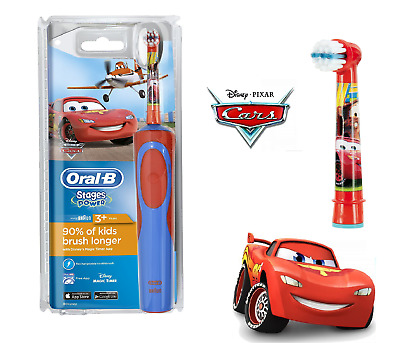 Oral-B Stages Power Vitality Disney CARS Electric Rechargeable Kids Toothbrush..