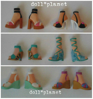 6 pairs of Shoes - MY SCENE BARBIE DOLL ACCESSORIES LOT A