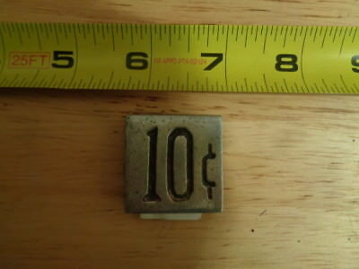 Slot Machine Parts  - Coin Denomination - Item D-73