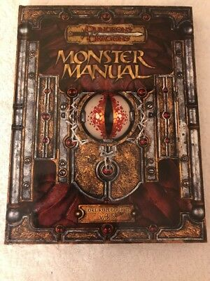 monster manual Core Rule book III Dungeons And Dragons Hardback