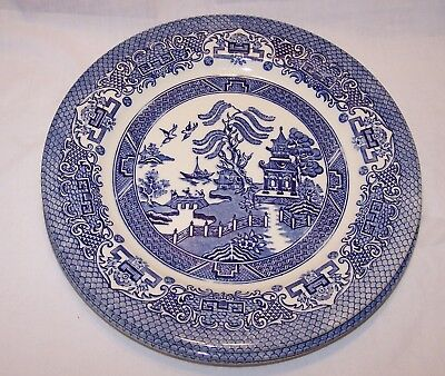 English Ironstone Blue Willow Dinner Plate - Set of 3