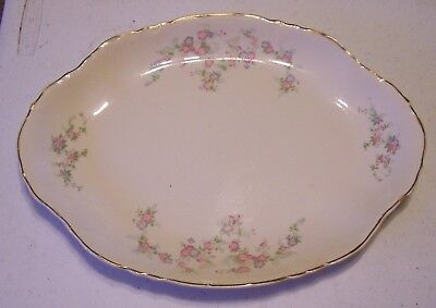 Vintage Homer Laughlin Platter - Yellow, Blue, Pink small Flowers