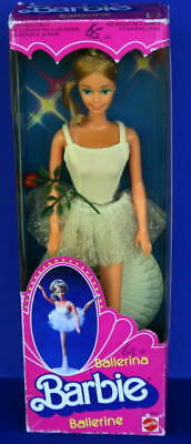 Rare 1983 BALLERINA Superstar BARBIE in open box Europe Foreign * Beautiful face