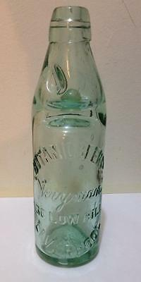 Botanic Beer.Co.Liverpool 30 low hill antique Codd marble embossed bottle,Rare
