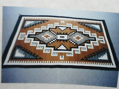 """1940's Navajo Two Grey Hills Rug, 70"""" x 48"""" From The Robert Horton Estate"""