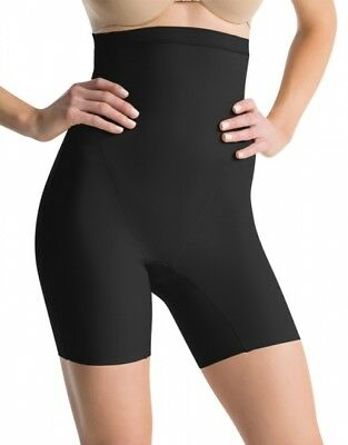 Assets by Spanx SS3415 Clever Controllers High-Waist Mid-Thigh Shaper Black