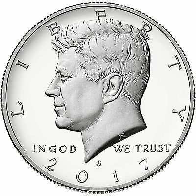2017-S Kennedy Half Dollar Silver(90%) Proof - Deep Cameo Coin