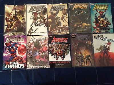 marvel tpb lot of 10 mighty avengers, thanos, children's crusade and others