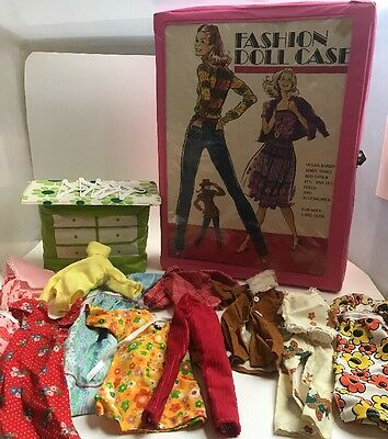 Fashion Doll Case Barbie Inflatable Dresser Vintage Homemade Modest 70s Clothes