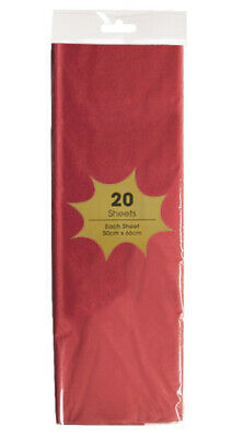 20 x RED Tissue paper 55 x 66 cm Sheets - Acid Free - gift wrap, party wedding