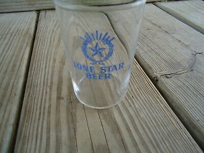 Lone Star Beer Barrel Glass Vintage 1941 Blue Acl