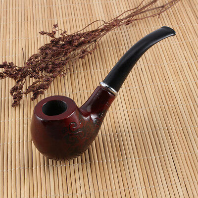 Durable Wooden Enchase Carved Smoking Pipe Tobacco Cigarettes Cigar Pipes Gift