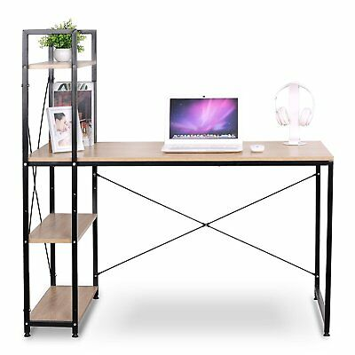 WOLTU Home Office Computer Corner Desk Wooden and Metal Laptop Table
