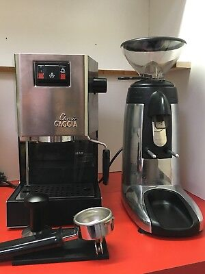 Gaggia Classic & Compak K3 Touch Grinder