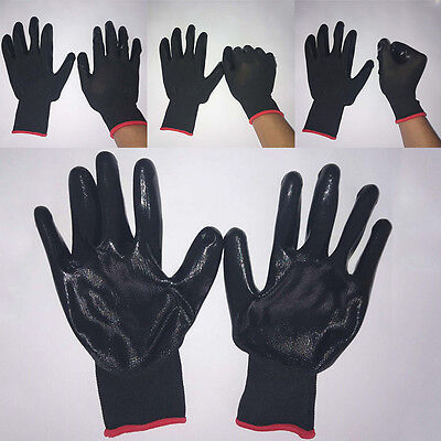 1 Pair Work Gloves Nylon+Latex Labor Protection Gloves NEW