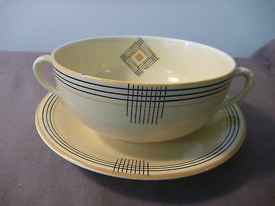 Minton 2 handled large cup n saucer