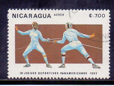 Nicaragua Stamp Fencing - Sports 1983.