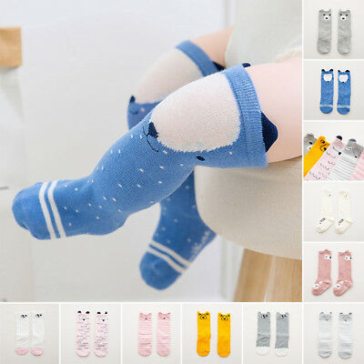 Cute Cartoon Cotton Baby Kids Girls Toddlers Knee High Socks Tights Leg FOR 0-4Y