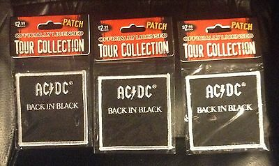 Ac/dc Back In Black Patch Lot Of 3