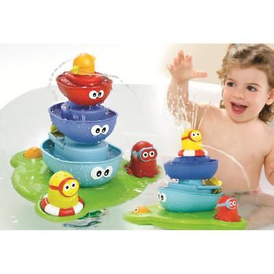 NEW Yookidoo Baby Bath Toy Stack N Spray Tub Water Play Fountain
