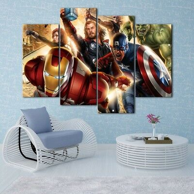 Avengers union painting 4PCS HD Canvas Print Home Decor Room Wall Art Picture