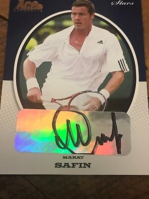 Marat Safin Tennis tennis signed card from Ace