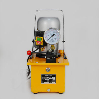 Electric Driven Hydraulic Pump 63 MPa Single Acting Manual Valve 110V HHB-630C