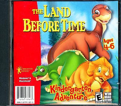 The Land Before Time  Ages 4 - 6 Kindergarten Retro Pc Cd Rom Software - Nm - Ln
