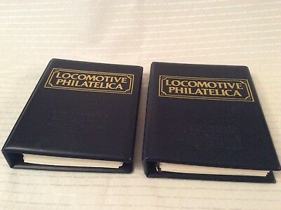 locomotive philatelica albums X2. ~ 400+ Stamps.