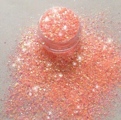 ❤️3G Pot Pre-Mixed Nsi Acrylic Powder Glitter 'peach Fizz'❤️