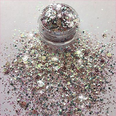 ❤️3G Pot Pre-Mixed Nsi Acrylic Powder Nail Art Glitter 'copacabana'❤️
